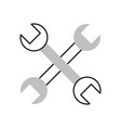cross wrench tools isolated icon vector image vector image