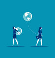 different people have different direction concept vector image vector image