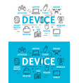 digital devices and technology scheme vector image