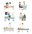 doctor and patient medical healthcare vector image vector image