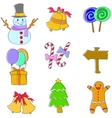 Doodle of christmas object set vector image vector image
