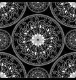 elegance black and white paisley mandala seamless vector image