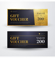 elegant luxury golden gift voucher templates vector image vector image