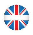 empty british campaign button vector image