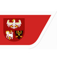 flag of warmian-masurian voivodeship in vector image vector image