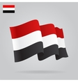 Flat and waving Yemen Flag vector image vector image