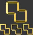 Golden line corporate logo design set vector image vector image