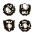 golf emblems set vector image vector image