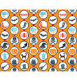 Halloween Set Orange Pattern vector image vector image