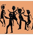 Happy People Dancing vector image vector image