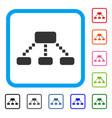 hierarchy scheme framed icon vector image vector image