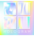holographic abstract backgrounds set vector image