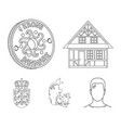 House residential style and other web icon in vector image