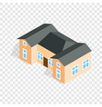 house with two outbuildings isometric icon vector image vector image