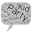 How to Host a Superb Kid Birthday Party text vector image vector image