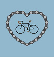 I love bicycle vector image