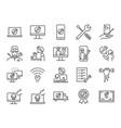 it support icon set vector image