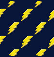 lightning or thunder on the dark blue background vector image vector image