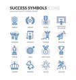 line success icons vector image
