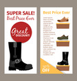 men winter and autumn boots flyers vector image vector image
