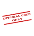 Official Used Only Watermark Stamp vector image vector image