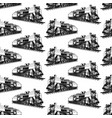 pattern with steam locomotive vector image vector image
