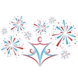 People with fireworks vector image vector image