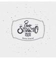 Photo studio badge insignia for any use such as vector image vector image