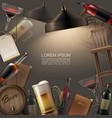 realistic pub colorful template vector image vector image