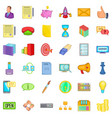 retail trade icons set cartoon style vector image vector image