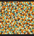 retro triangle pattern seamless vintage vector image vector image