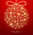 Romantic Red Christmas Background vector image vector image