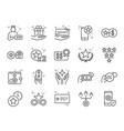 royalty program line icon set vector image