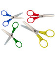 scissors set isolated on white vector image vector image