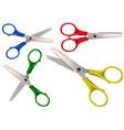 scissors set isolated on white vector image