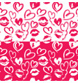seamless pattern with brush strokes and scribbles vector image vector image