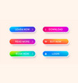 set abstract modern web buttons vector image vector image