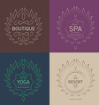 set floral logos template for beauty salon spa vector image