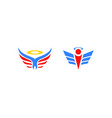 set of angel logo design vector image vector image