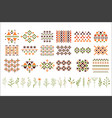 set of colorful ethnic patterns decorative vector image