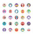 set of media and advertisement icons vector image