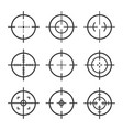 set target aim icons sniper scope vector image vector image