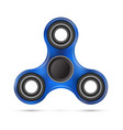 spinner blue design vector image vector image