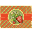 Strawberries vintage background vector image vector image
