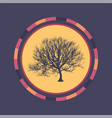 technology colorful round background with tree vector image vector image