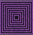 the concentric square banner purple sequins back vector image vector image
