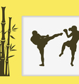The two men are engaged in Myai Tai vector image vector image