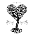 Tree crown like heart vector image
