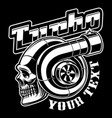 turbocharger with skull vector image