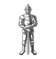 vintage armored medieval knight concept vector image